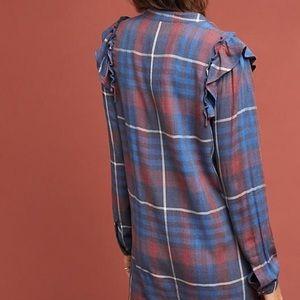 Anthropologie Dresses - Cloth & Stone Ruffled Shirtdress